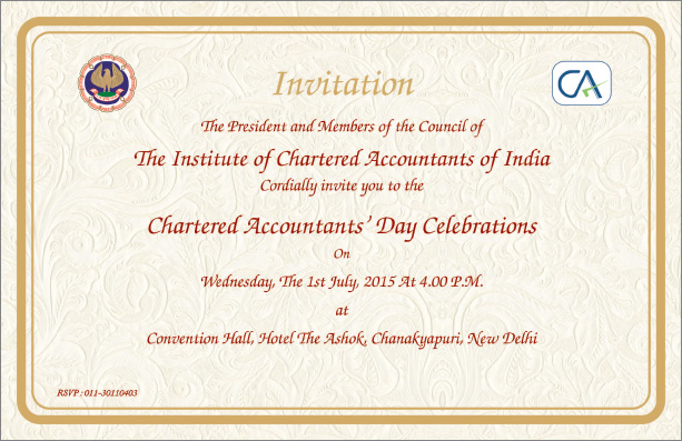 CA Chartered Accountant Day 1st july 2015