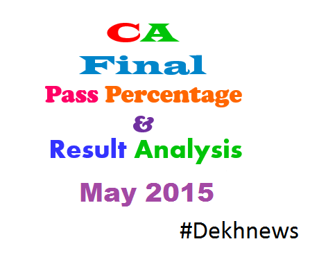 CA Final Result May 2015 Passing Percentage Analysis Statistics