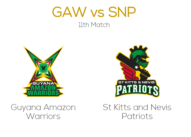 CPL 2015 GAW vs SNP T20 Match Live Score Streaming Playing Team Squad Toss Preview
