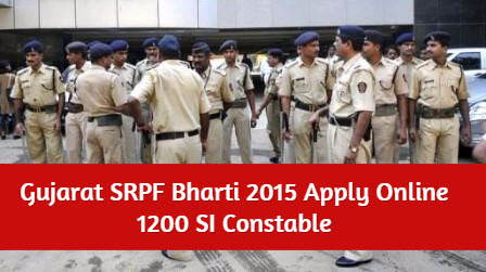 Gujarat Police SI Constables Clerk 1200 Job Vacancies Recruitment 2015
