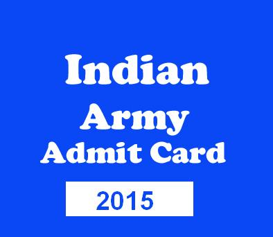 Download Indian Army Havaldar Exam Admit Card 2015