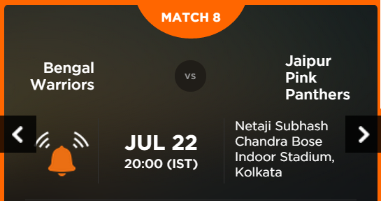 Watch Pro Kabaddi League 2015 Kolkata vs Jaipur Match 8 Live Score Result Prediction