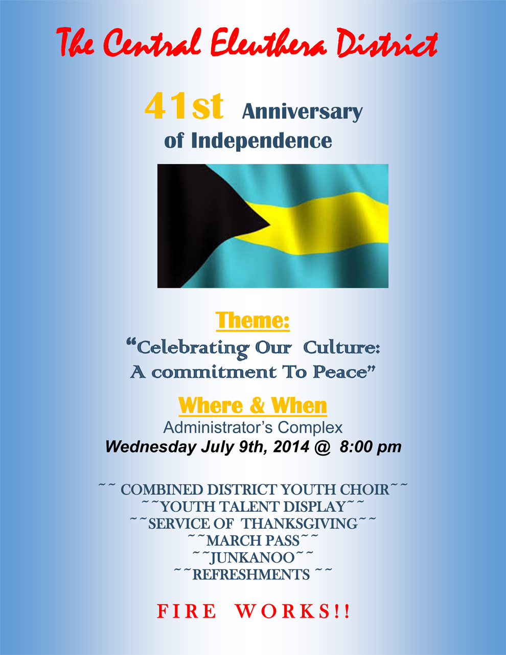 bahamas independence day 10 july 2015