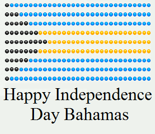 bahamas independence day flag