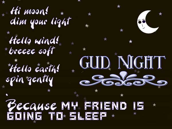 Friend Good Night Quotes In English