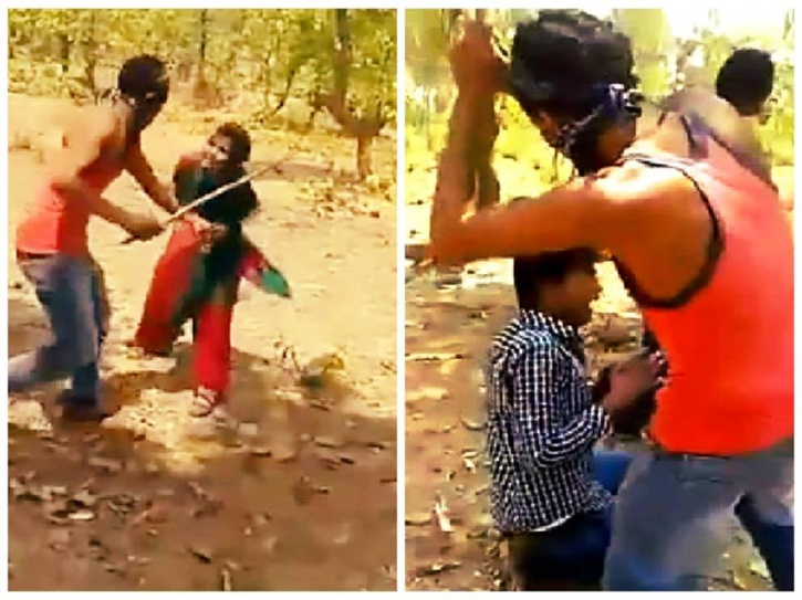 Watch Gang Attacks Young Couple With Sticks in Jharkhand