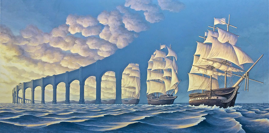 magic realism paintings by rob gonsalves 1