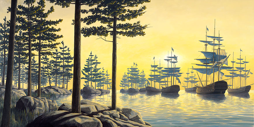 magic realism paintings by rob gonsalves 10
