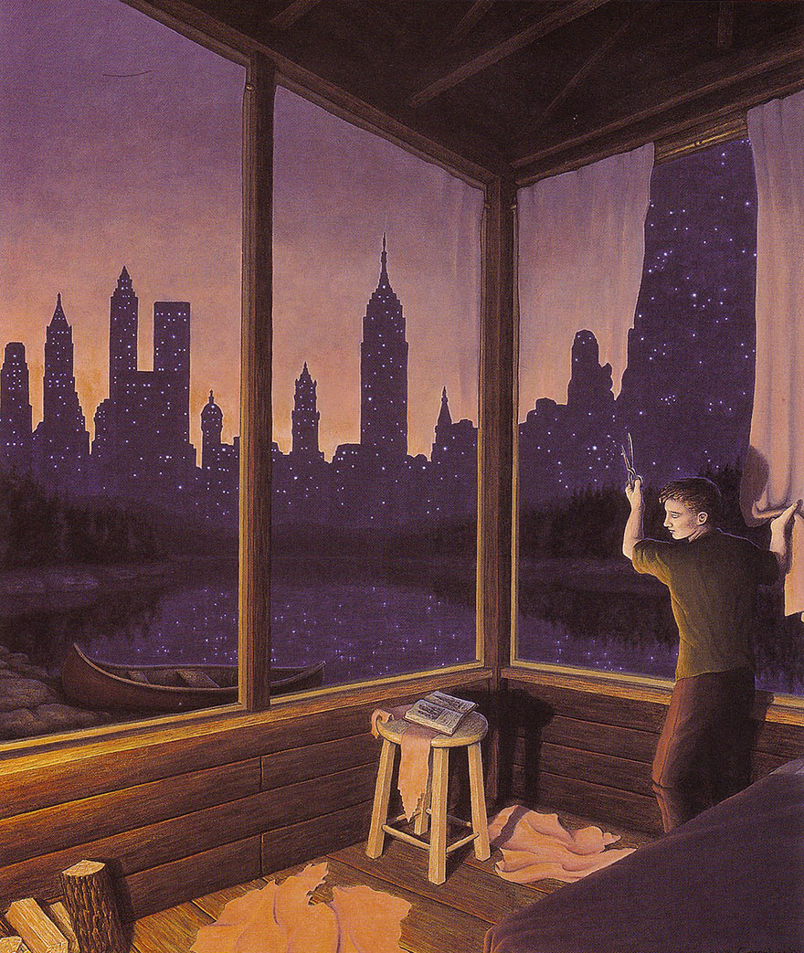 magic realism paintings by rob gonsalves 12