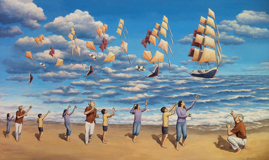 magic realism paintings by rob gonsalves 13