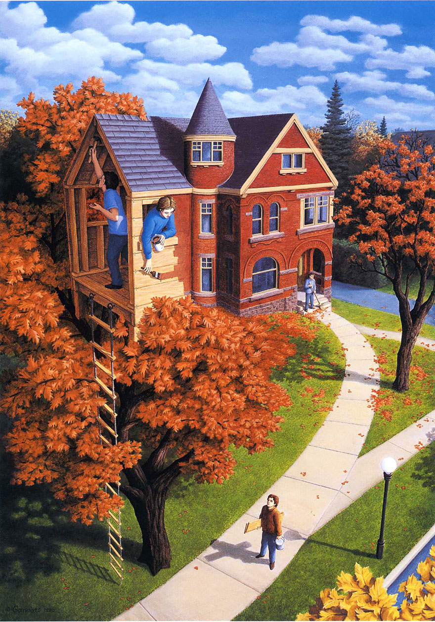 magic realism paintings by rob gonsalves 14