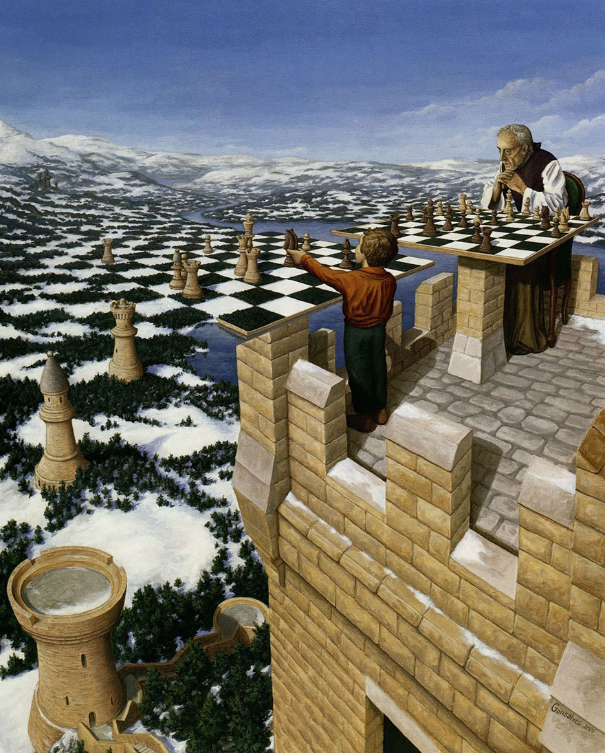 magic realism paintings by rob gonsalves 15