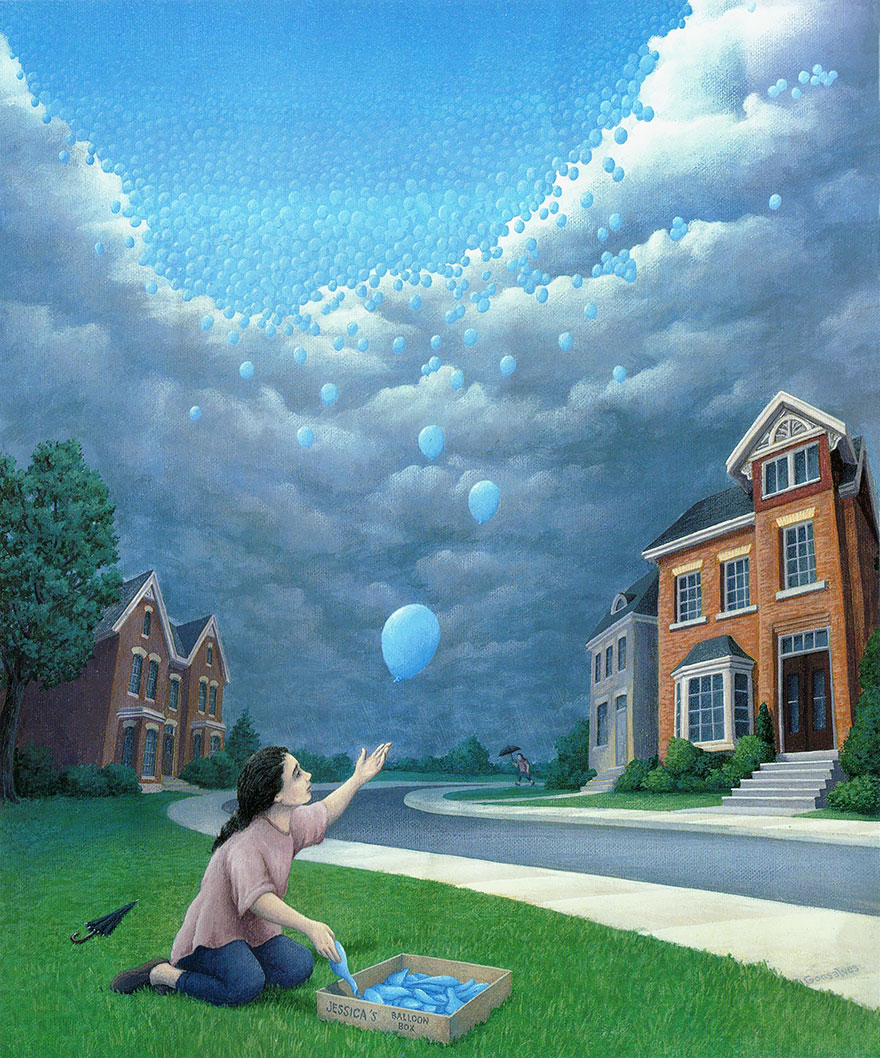 magic realism paintings by rob gonsalves 16