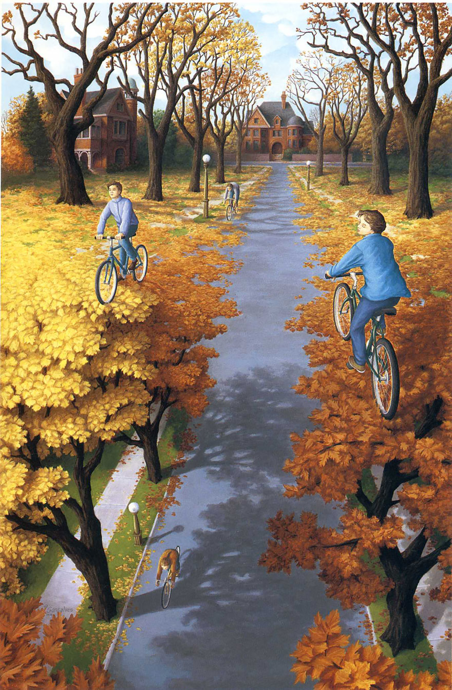 magic realism paintings by rob gonsalves 2