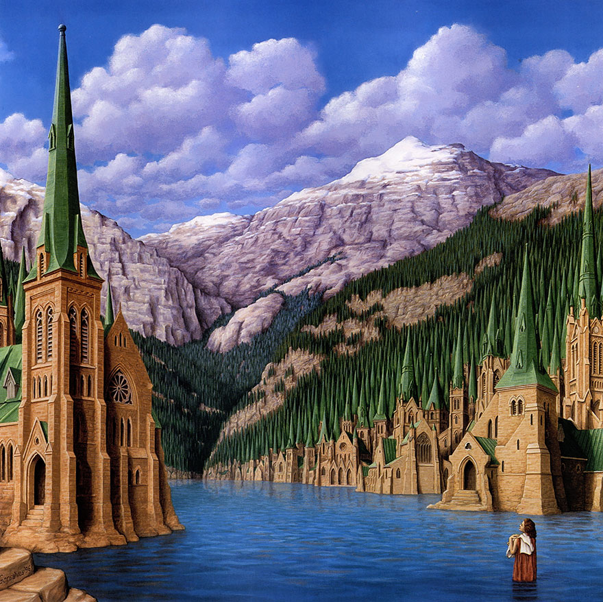 magic realism paintings by rob gonsalves 20