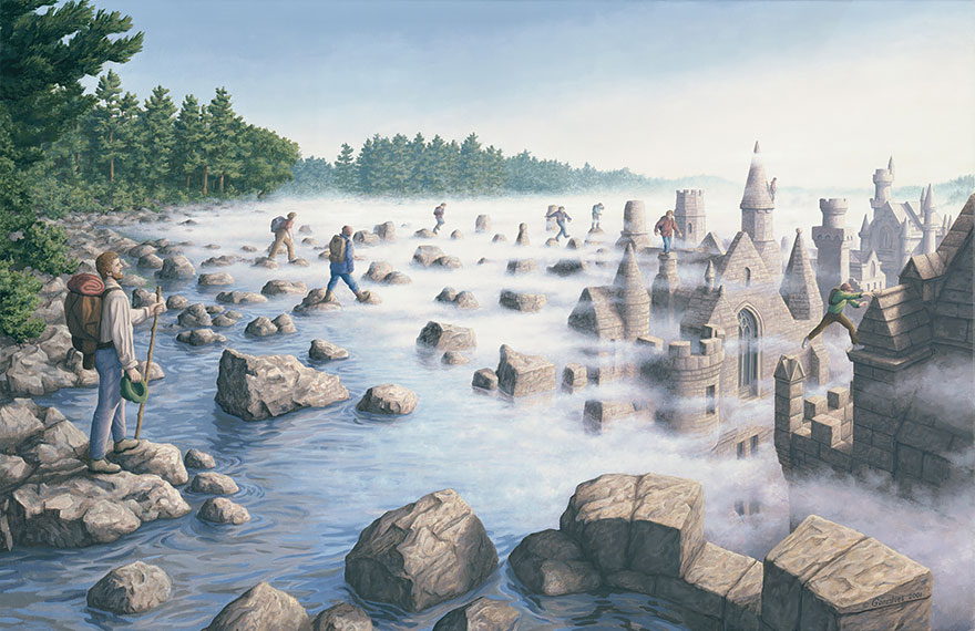 magic realism paintings by rob gonsalves 21