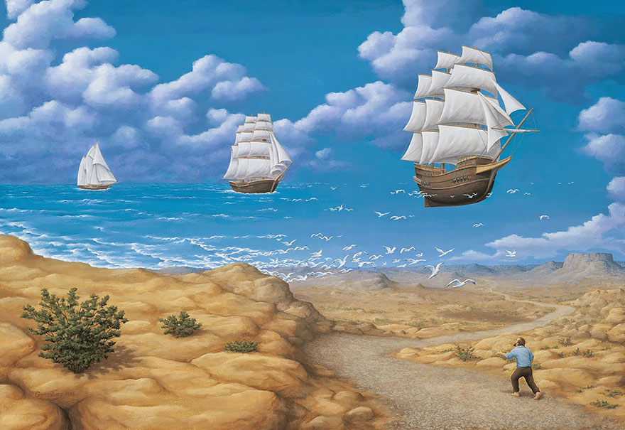 magic realism paintings by rob gonsalves 22