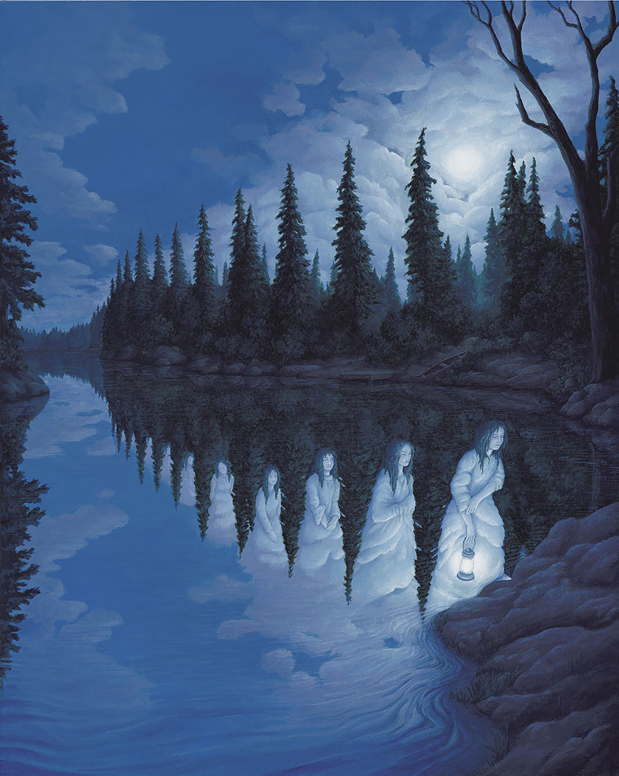 magic realism paintings by rob gonsalves 24