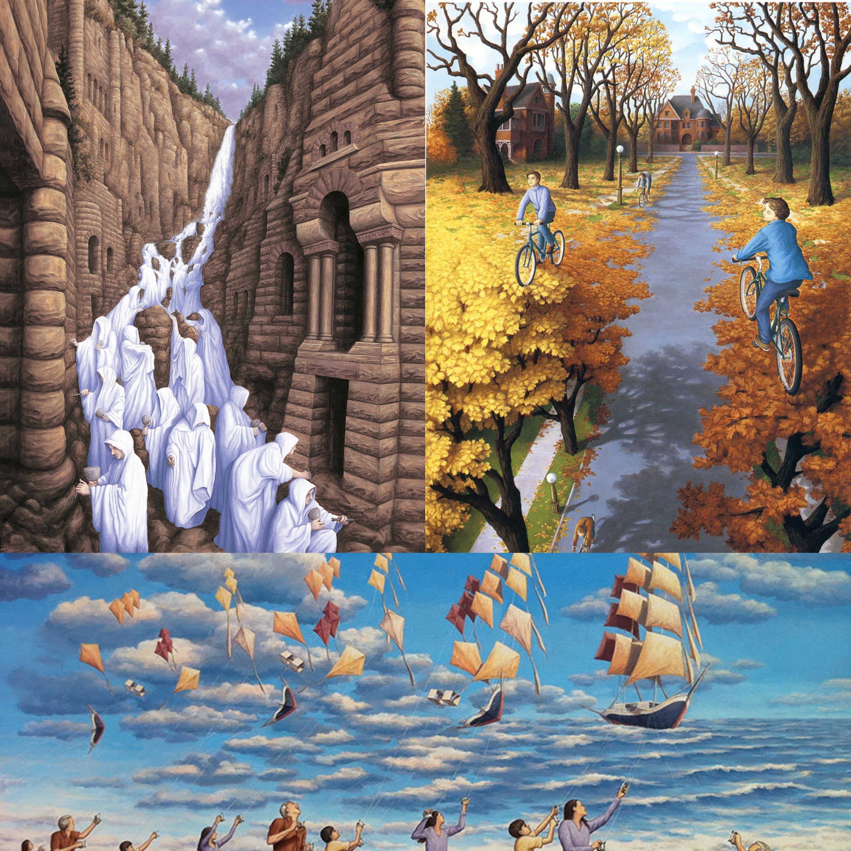 magic realism paintings by rob gonsalves 2_Fotor_Collage