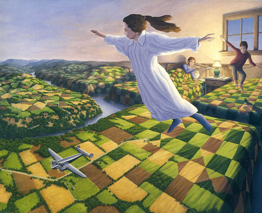 magic realism paintings by rob gonsalves 5