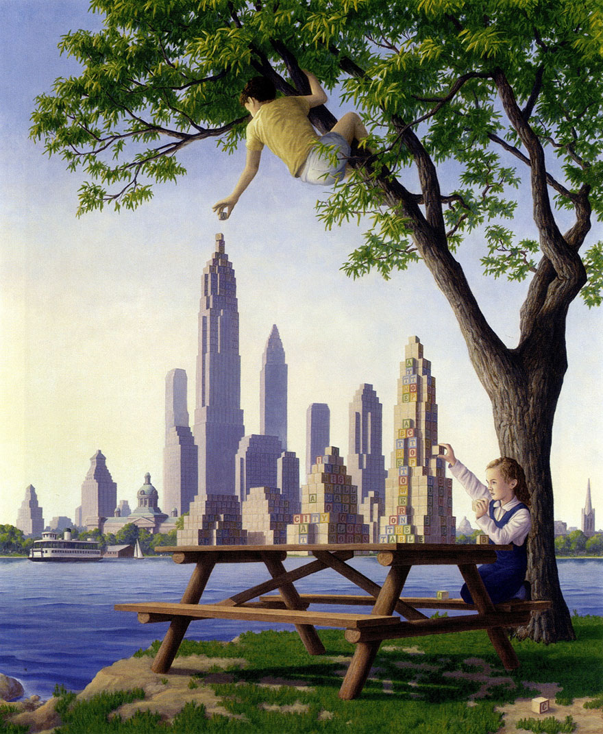 magic realism paintings by rob gonsalves 7