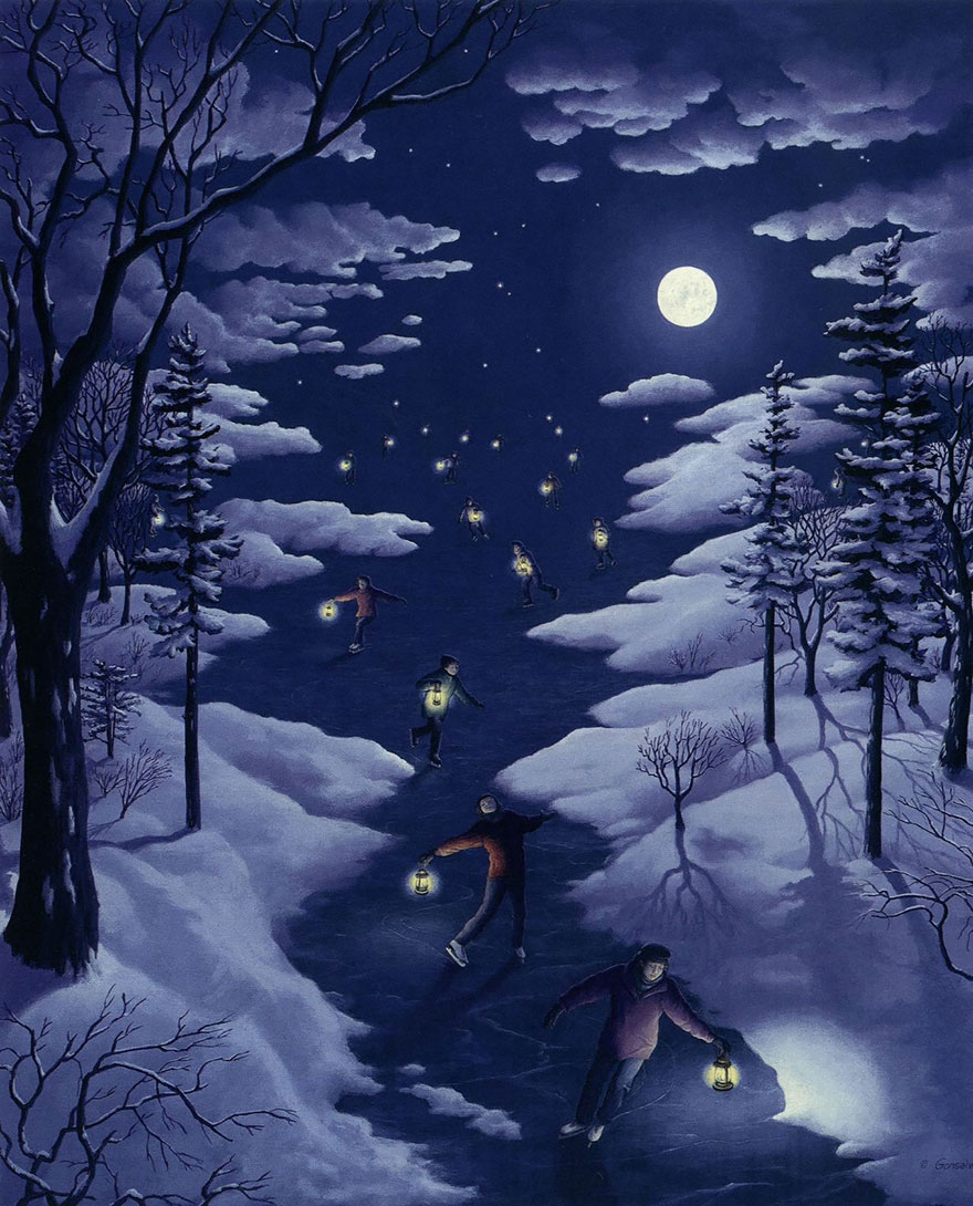 magic realism paintings by rob gonsalves 8