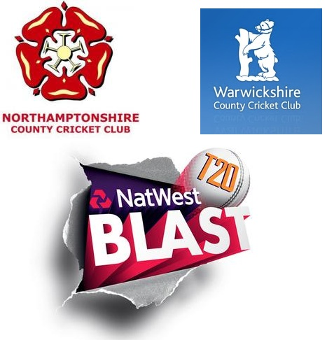 NatWest T20 Blast 2015 : Warwickshire vs Northamptonshire Match Live Score Team Squad Prediction Streaming