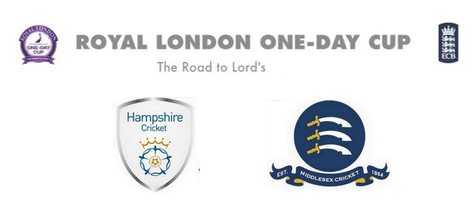 Hampshire vs Middlesex Match Live Score Streaming Prediction Royal London One-Day Cup 2015