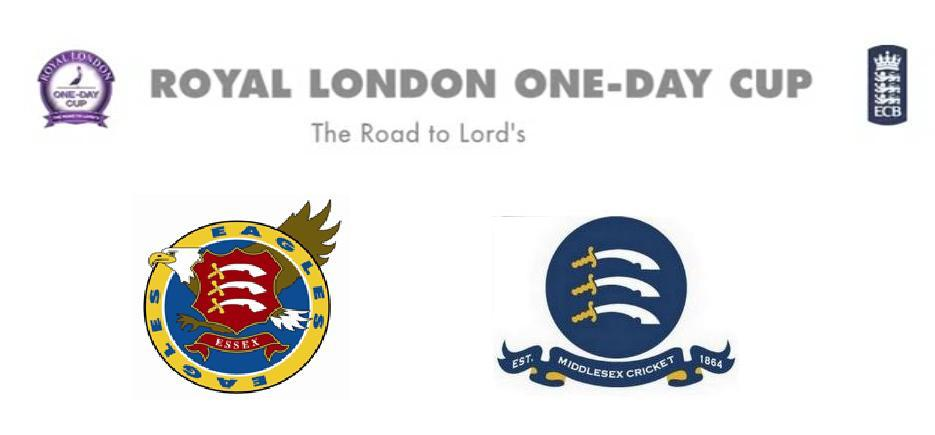Essex vs Middlesex Royal London Cup 2015 Match Live Score Streaming Teams Squad Toss Prediction