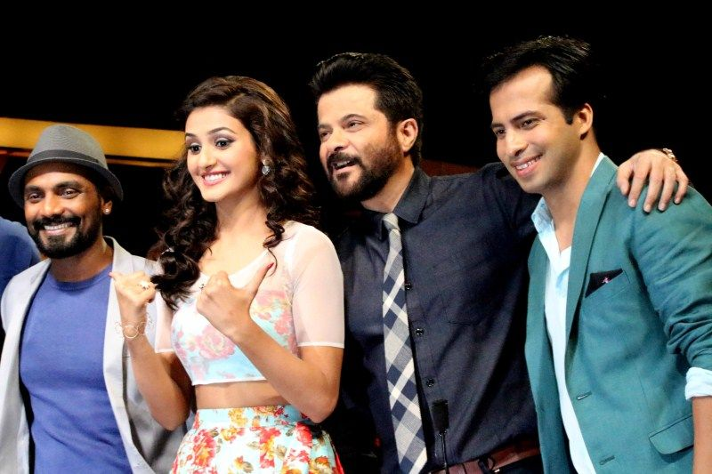 Anil Kapoor & John Abraham On Set Of Dance Plus To Promote Welcome Back Movie
