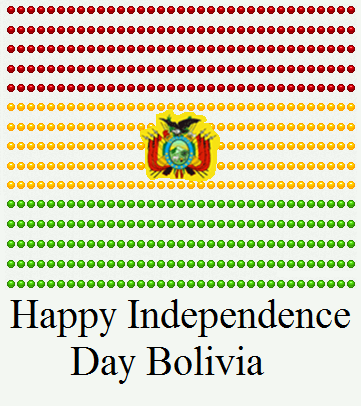 Bolivia Independence Day 2015