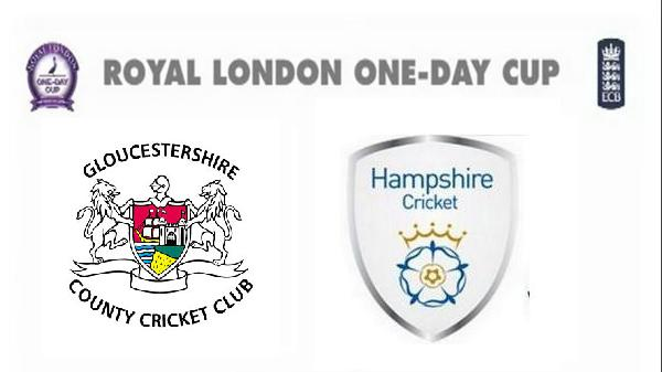 Watch Royal London Cup 2015 Gloucestershire vs Hampshire 2nd Quarter Final Match Live Score Streaming Result