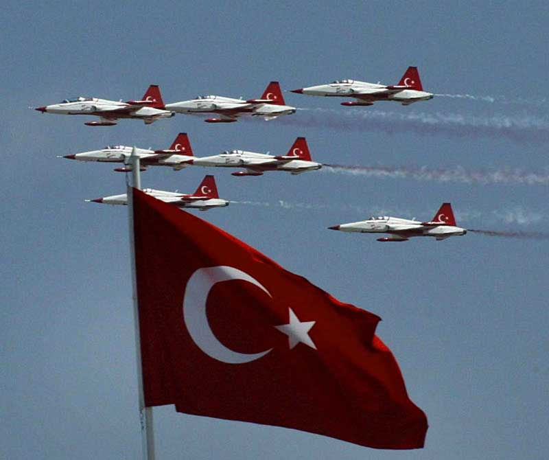Happy Victory Day Turkey Flags Celebrations