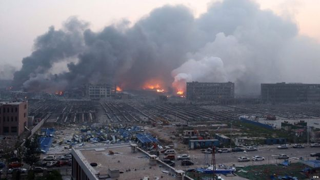 Huge Explosion Took Place At Warehouse Of Tianjin China