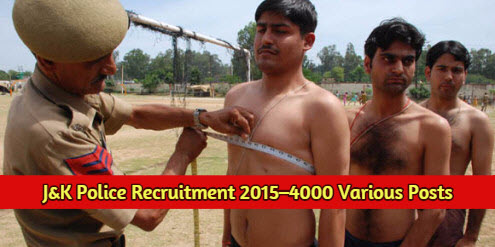 How to Apply for 4000 JK Police Constables posts in Jammu & Kashmir Police Department