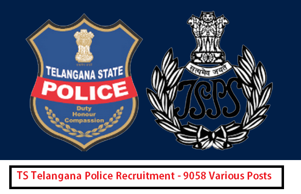 Apply Online For 9058 Post as Telangana Police Constable Sub Inspector Vacancy Recruitment 2015
