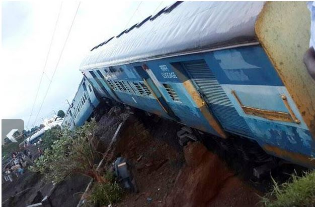 Two Trains got derailed in mp 2015