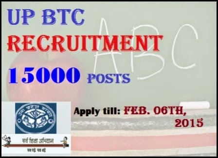 Apply Online For UP BTC 15000 Posts Of Primary Teachers