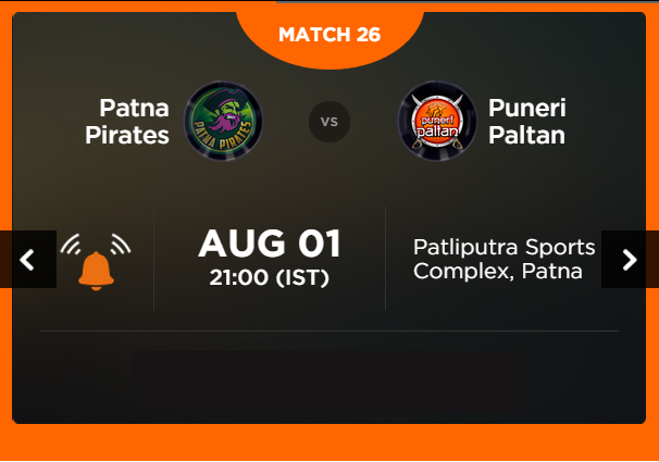 Watch Pro Kabaddi League 2015 Patna vs Pune Match 26 Live Score Result Prediction