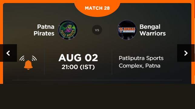 Watch Pro Kabaddi League 2015 Patna vs Kolkata Match 28 Live Score Result Prediction