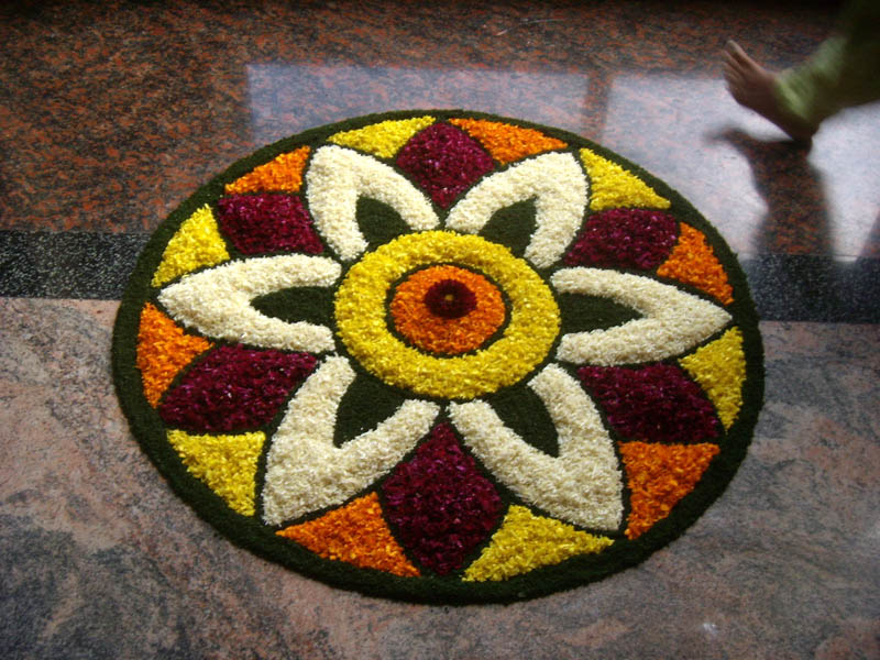 Happy Onam Pookalam Rangoli Photos