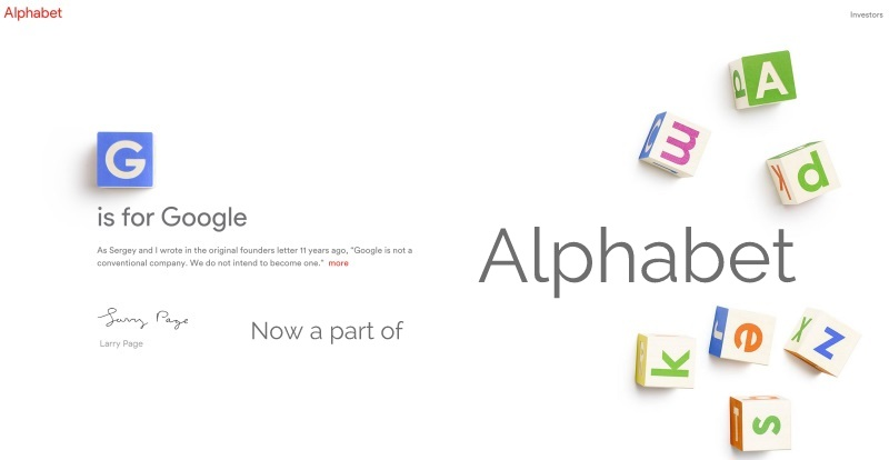 sundar pichai new ceo of google lary and brin will hold Alphabet