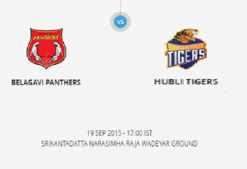 KPL T20 2nd Quarter Final Belagavi Panthers vs Hubli Tigers Match Live Score Result Winner Prediction 2015