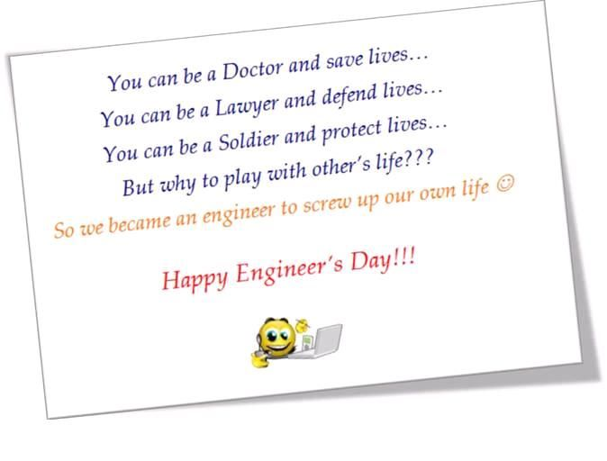 Best Happy Engineers Day greetings cards