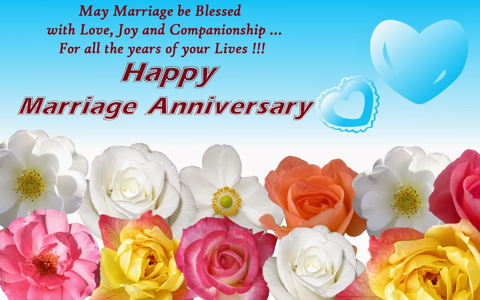 Best Happy Wedding Anniversary Wishes Cards For Husband Wife