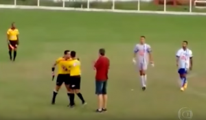 Watch A Brazilian Referee Pulls out a Gun During Football Match Full Video Image