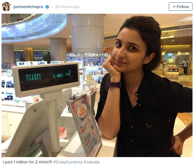 parineeti chopra pays 1 million to buy 2 shirts