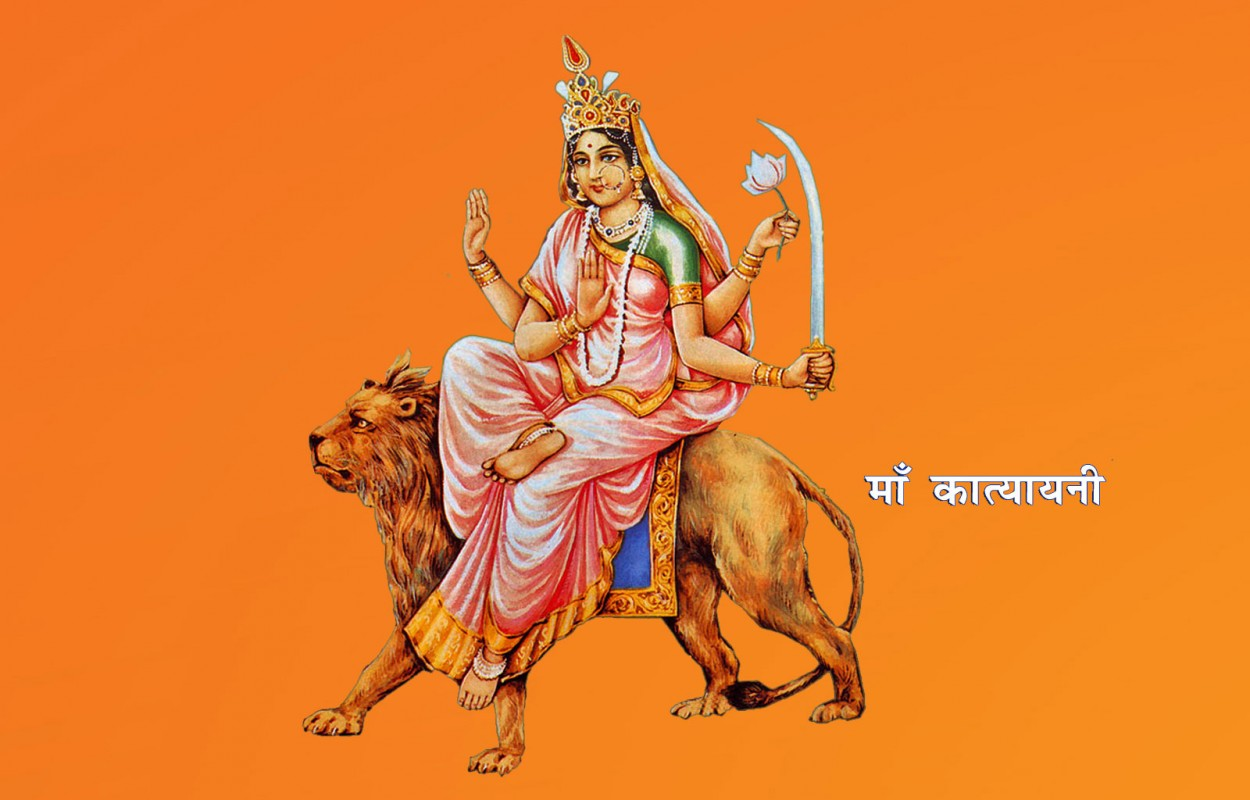 6th Day of Navratri Katyayani Mata Rani images Pics Photos Wallpapers 2015