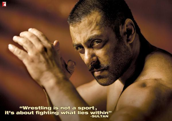 Bollywood Actor Salman Khan Upcoming Sultan Movie First Poster Released