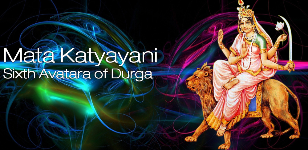 Celebrate 6th Day of Navratri Katyayani Mata Rani Mantra Colors Images Pics Photos Wallpapers 2015